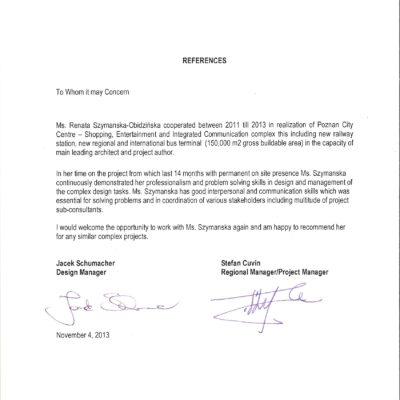 Referencje Renata Szymańska-Obidzinska Trigranit