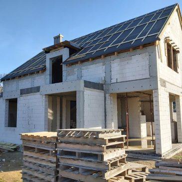 Nasz projekt domu pod Poznaniem się buduje