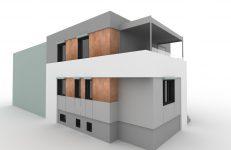 Nowa elewacja starego domu 1