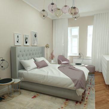 Projekt stylowej sypialni