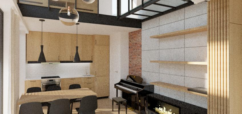 Projekt wnętrza domku letnistowego