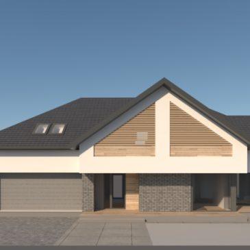 Projekt domu ze skośnym dachem